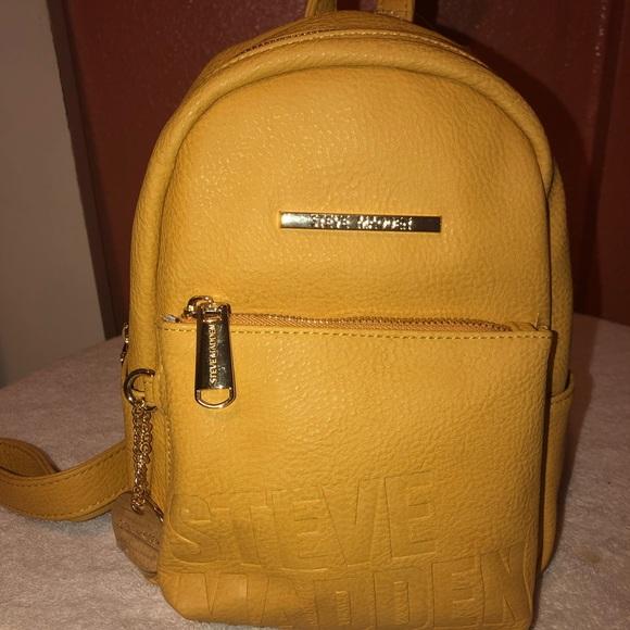 119c15e64bf Steve Madden Bags | Mustard Yellow Bailey Mini Backpack | Poshmark